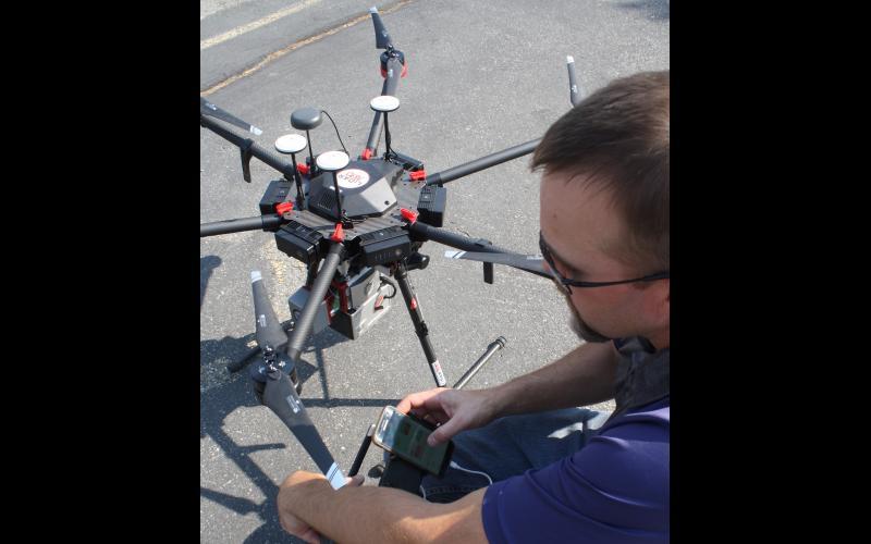 Drone getting programmed