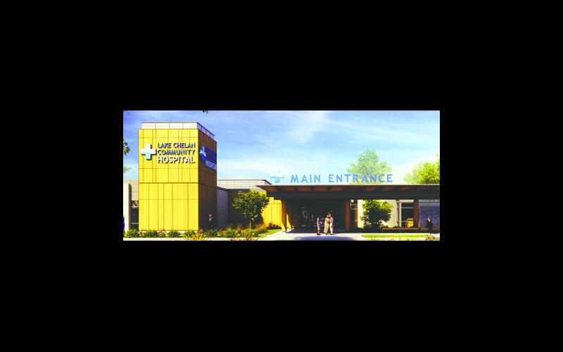 Artist's rendition of new hospital entrance area