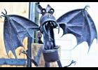 A bat welcomes you at the gate